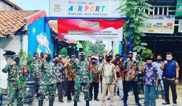 Danramil 01 Teluknaga Gelar Karya Bakti Di Kampung Airport Handal Desa Teluknaga