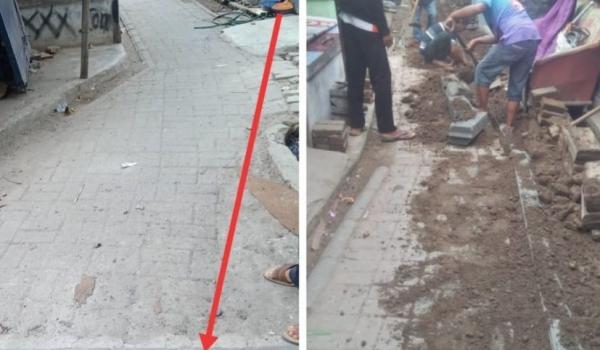 Pembangunan Jalan Desa : Paving Block 2020
